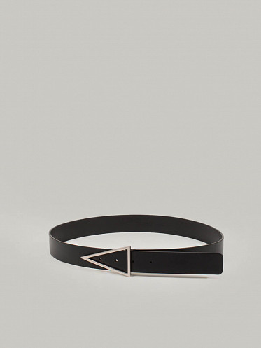 Cintura French Calf Leather black silver