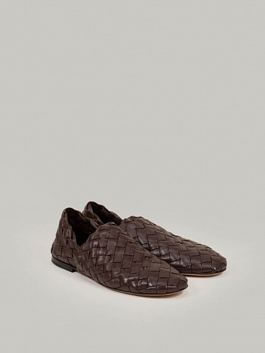 Slipper Leather Intr lagoon ebony
