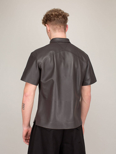 Shirt Semi Lamb Leather fond