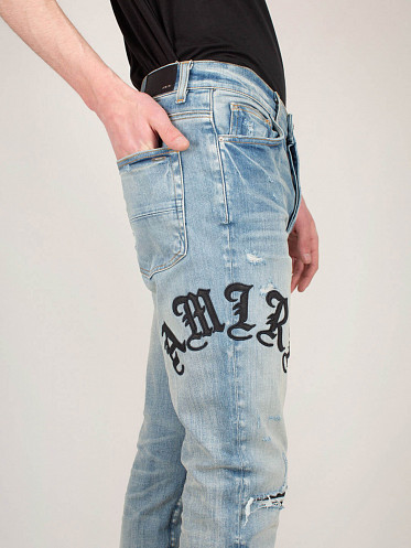 Old English Amiri Jeans clay