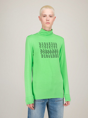 Sous Pull Front Print neon green