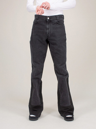Flared Denim Work Inserts black