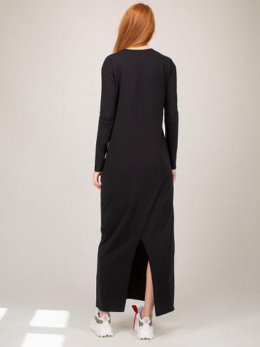 Jersey Dress With Badge black