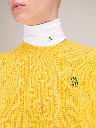 Unisex Separate Turtleneck white