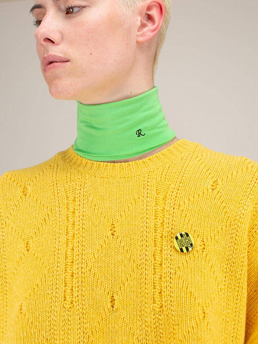 Unisex Separate Turtleneck neon green