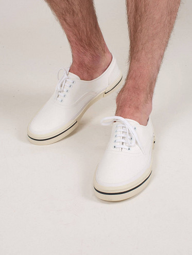 Low Lace Up Sneaker white