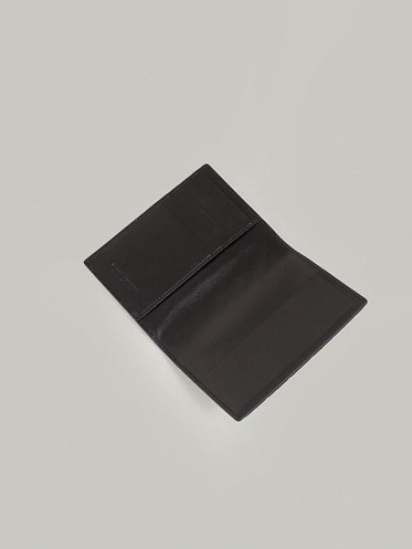 Flat Goods Passport Case black silver