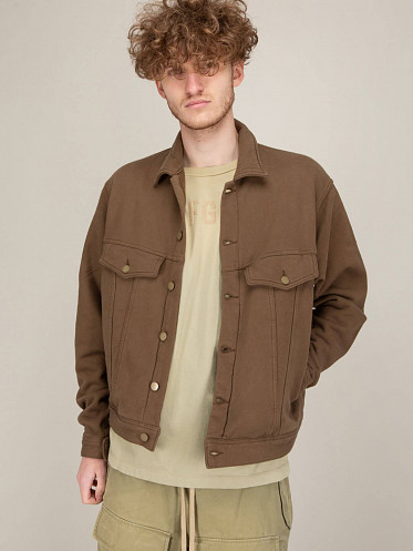 French Terry Trucker brown