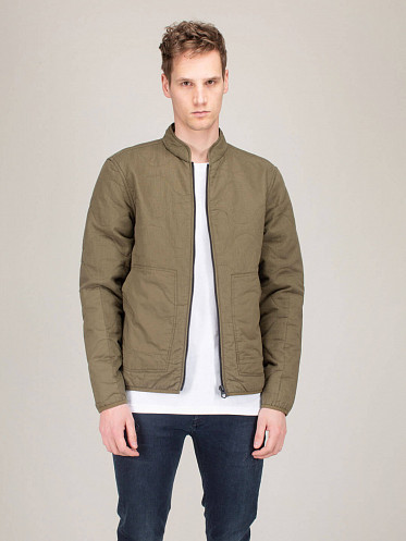 Quilted Overshirt Quilt army green Blazer
