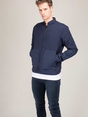 Quilted Overshirt Quilt navy Blazer
