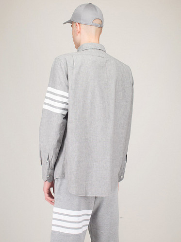Straight Fit Button Down Shirt grey
