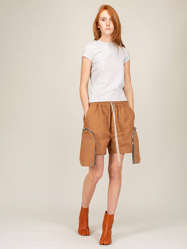 Cropped Level Tee oyster