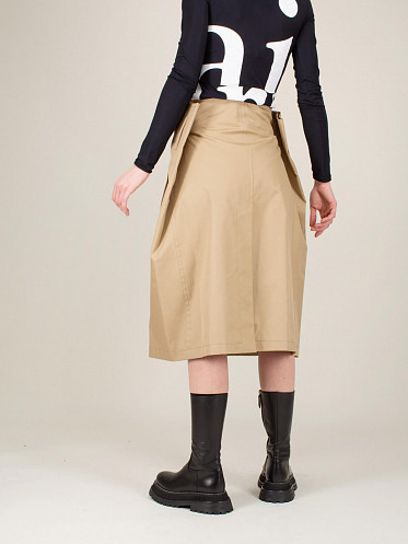Gabardine Cotton Skirt beige