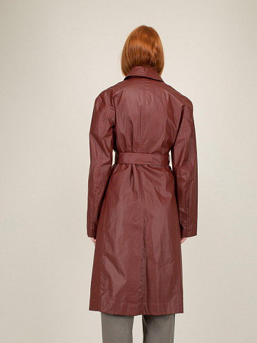Fitted Trench Coat red