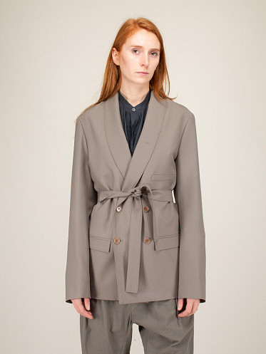 Belted Jacket taupe