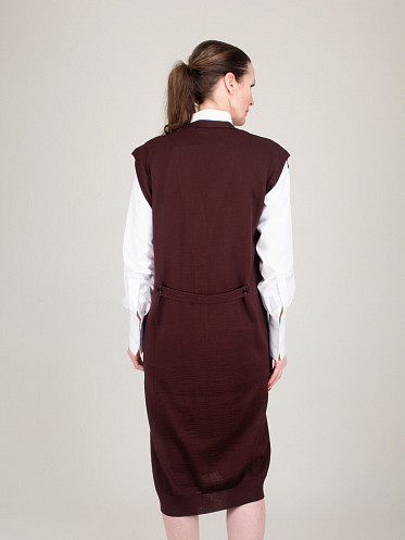 Sleeveless Dress burgundy
