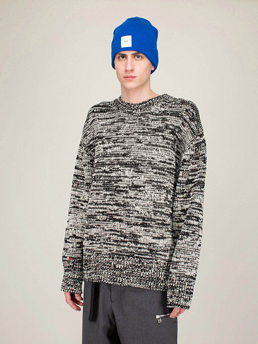 Contra Crewneck Knitted black