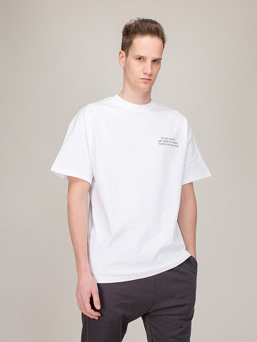Waste My Time Tee white