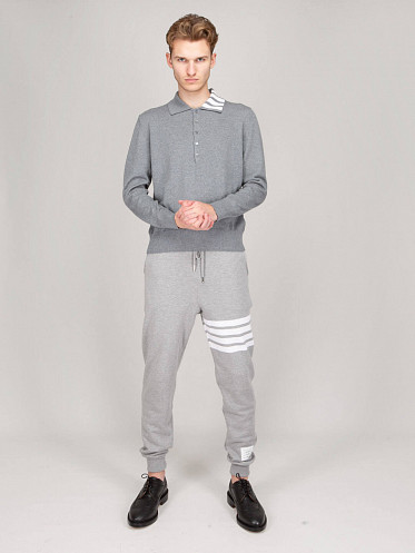 Jersey Relaxed Fit Wool Polo grey