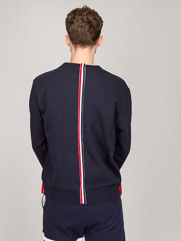 Crew Pull Loopback Sweater navy