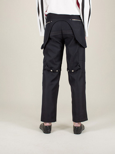 Arcadia Embroidered Trousers crow black