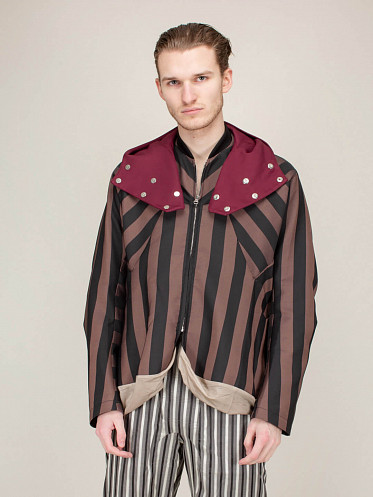 Kolman Bomber Jacket red black beige