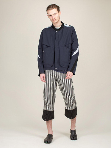 Minerva Blouson Jacket ribbon blue light grey