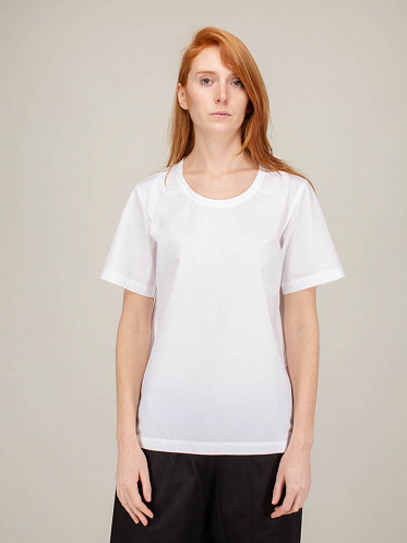 Wide T Shape Top white