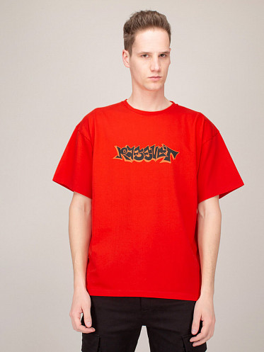 Printed Shortsleeve T-Shirt red
