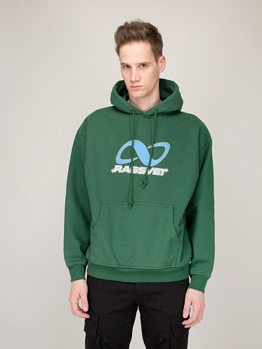 Printed Hoodie forest green