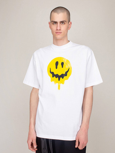 Large Fit Smiley Tee white
