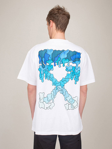 Logo Marker Shortsleeve Over Tee white blue