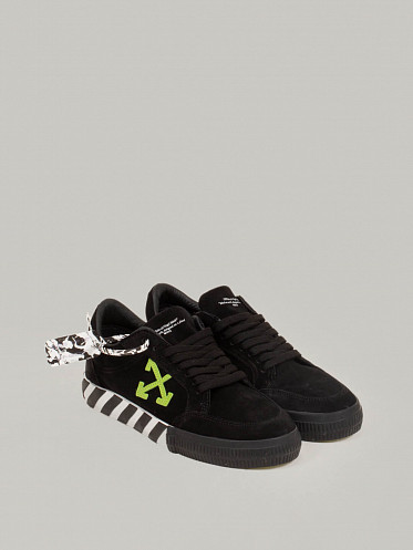 Low Vulcanized Sneaker Cow black green