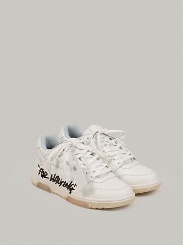 Out Of Office Calf Leather Graffiti white