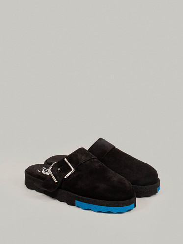 Comfort Leather Slipper black