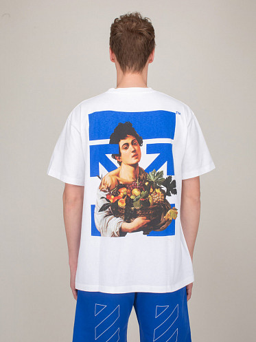 Caravaggio Boy Mark Shortsleeve Over Tee white