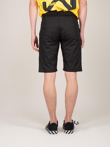 Industrial Belt Chino Shorts black white