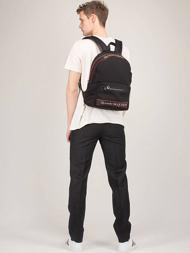 Metropolitan Canvas Jacquard Backpack ft. Selvedge Logo Tape black