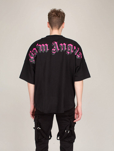 Doubled Logo Over Tee black