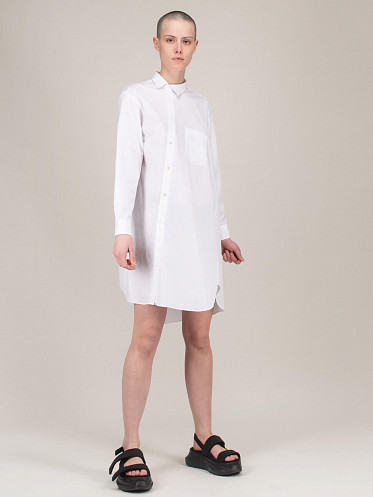 Ladies Long Shirt white