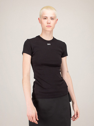 Basic Ribbed Tee black