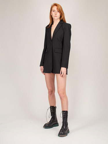 Formal Sexy Blazer Dress black