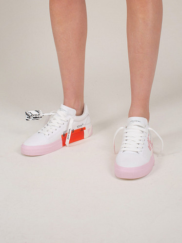 Vulcanized Low Canvas white pink