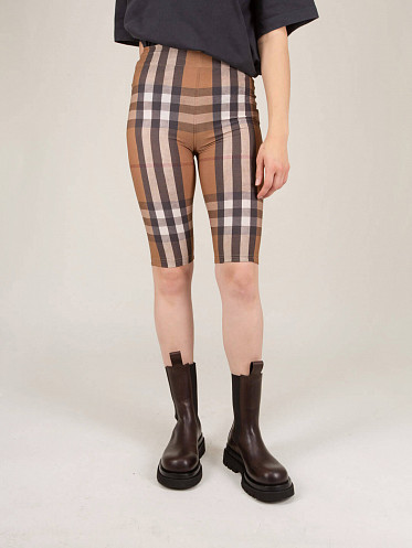 Andrea Check Cycling Shorts beige