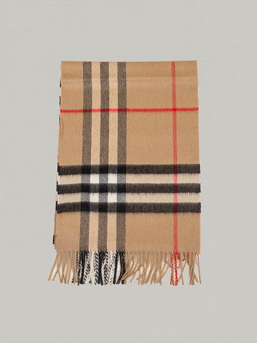 Giant Check Scarve Archive beige