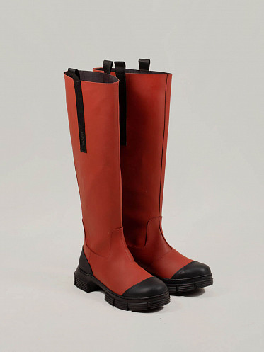 Recycled Rubber Boots Madder brown