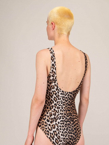Recycled Printed Swimsuit leopart