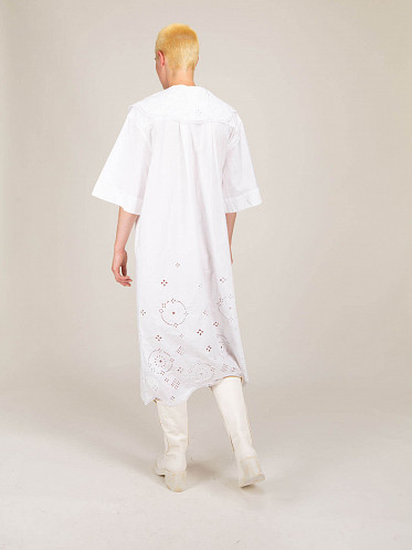 Broderie Anglaise Dress white