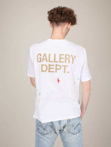Printed T-Shirt Painting Details white