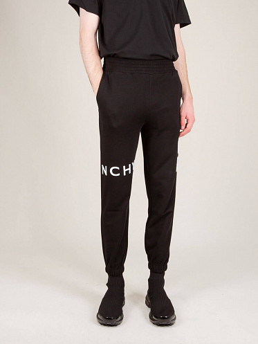 Slim Fit Embroidered Trousers black